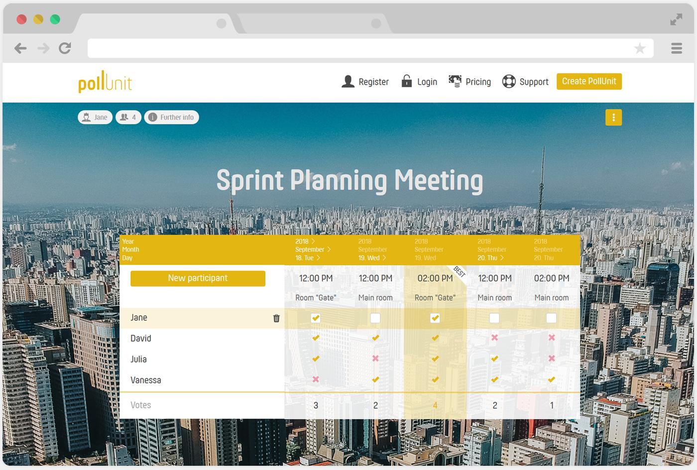 Schedule meetings, activities and events